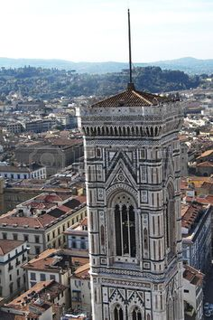 View from the terraces of the Giotto s bell tower of the Cathedral, Florence, Italy
