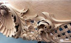 Risultati immagini per wood baroque details Wood Carving Designs, Wood Carving Art, Wood Art, Craft Wood Pieces, Curved Wood, Woodworking Inspiration, Filigree Design, Wood Sculpture, Baroque