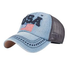 Feitong Fashion Denim Caps Women's Men Snapback Jeans Baseball Cap Mesh Sun Hats for Women Gorras Summer Bones Casquette