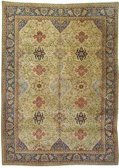 Qum carpet, Central Persia   360cm. x 261cm.(11ft.10in. x 8ft.7in.) I Christie's Sale 5750