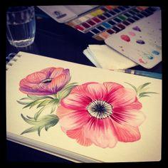#marinabarbato #watercolor #aquarela #aquarelle #aquarel #acquerello #surfacedesign #printedte...