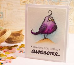 Tobi's Place: Happy Birthday Birds #watercolor #watercolour #stamping @timholtz…