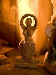 Imbolc - Little Spiral Goddess - By Bluheron