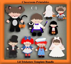 Clipart Templates for Scrapbooking.    Lil Tricksters Clipart Template Bundle. For Digital Scrapbooking, Clipart, Creating Cards & Printables.    Comes PSD Format  For Use in Photoshop and Graphics Programs