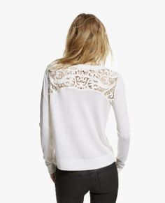 """Pullover mit Stickerei """"Baroque"""" - Alle Produkte - Woman - The Kooples Knit Sweaters, Lace Sweater, Irish Crochet, Crochet Lace, Pullover, Viera, Baroque, Knitting, Womens Fashion"""