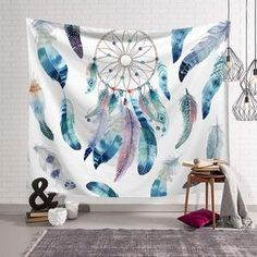 CN/_ Sunflower Marble Pattern Wall Tapestry Beach Towel Blanket Home Decor Swee