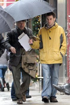 Robert De Niro got help with his umbrella while walking around the rainy New York City set of Another Bullsh*t Night in Suck City.