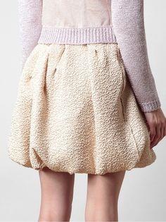 Skirt-o-pedia : Your Guide to Skirts Bubble Skirt, Crinkles, Wardrobes, Midi Skirt, High Waisted Skirt, Bubbles, Women Wear, Feminine, Purple