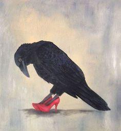 Ready to dance! Haida artist Trace Yeomans' meaningful art inspired by meaningful beauty. Quoth The Raven, Raven Bird, Crow Art, Bird Art, Corvo Tattoo, Vogel Silhouette, Crow Silhouette, Looks Dark, Jackdaw