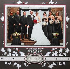 Wedding party scrapbook page