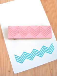 Chevron 4.75 long 4 row pattern  carved rubber by DesignQueue, $12.50