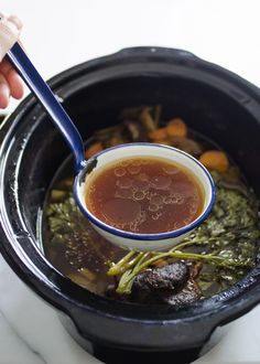 How To Make Beef Broth by Erica Kastner. Savory and wonderful.