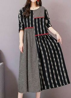 Shop Floryday for affordable Cotton Dresses. Floryday offers latest ladies' Cotton Dresses collections to fit every occasion. Stylish Dress Designs, Designs For Dresses, Stylish Dresses, Casual Dresses, Frock Fashion, Abaya Fashion, Fashion Dresses, Indian Designer Outfits, Designer Dresses