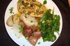 """Vegan Gardein """"Chicken"""" Piccata from our friends #foodista #chickenpiccata #gardein"""