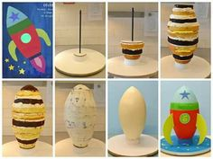 Rocket Cake Tutorial by Lovely Cakes Link to instructions… Rocket Ship Cakes, Rocket Cake, Anti Gravity Cake, Gravity Defying Cake, Rocket Birthday Parties, Sewing Machine Cake, Cake Structure, Cake Frame, Sculpted Cakes