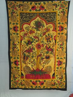 Tree of Life Tapestry Indian Tapestry by VishalHandicrafts on Etsy, $17.99