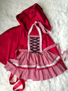 handmade little red riding hood costume