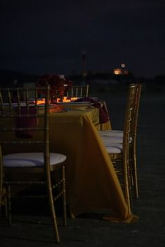 Candle light dinner by the ocean. Done (: honeymoon in Jamaica