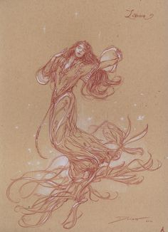 Donato Giancola - Lettered Edition - A-Luthien - drawing