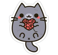 Cat stickers featuring millions of original designs created by independent artists. Kawaii Stickers, Anime Stickers, Cat Stickers, Printable Stickers, Laptop Stickers, Funny Stickers, Kawaii Doodles, Cute Kawaii Drawings, Tumblr Stickers