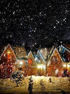 Decorated House With Christmas Lights In Night Snow Photography Backdrop Christmas Photography Backdrops, Christmas Backdrops, Snow Photography, Background For Photography, Background Pics, Photography Backgrounds, House Photography, Photo Backgrounds, Wallpaper Backgrounds