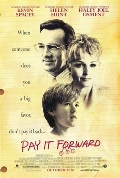 Pay It Forward 11x17 Movie Poster (2000)