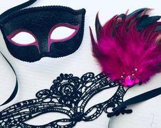 Masquerade Mask Women, Couples Masquerade Mask from USA by HigginsCreek Couples Masquerade Masks, Masquerade Ball, Costume Birthday Parties, Carnival Festival, Hand Designs, Mardi Gras, Halloween Party, Usa, Celebrities
