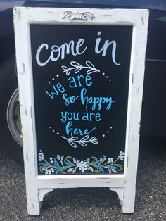 Welcome chalkboard for boutique signage welcome chalkboard, Chalkboard Drawings, Chalkboard Lettering, Chalkboard Designs, Chalkboard Easel, Chalk It Up, Chalk Art, Welcome Chalkboard, Sidewalk Signs, Chalk Writing