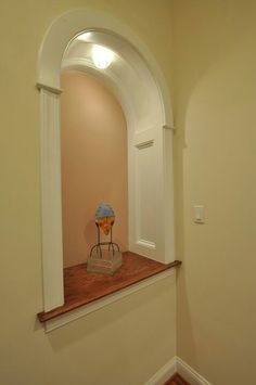 Wall niche with millwork