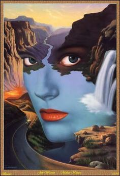 Awesome surrealist fantasy paintings by American self-taught artist Jim Warren. Illusion Kunst, Illusion Art, Fantasy Kunst, Fantasy Art, Illusion Paintings, Surrealism Painting, Modern Surrealism, Fantasy Paintings, Art Design