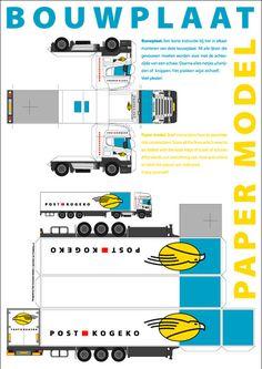 YorLogo® - Bouwplaat Truck met oplegger op A3 formaat