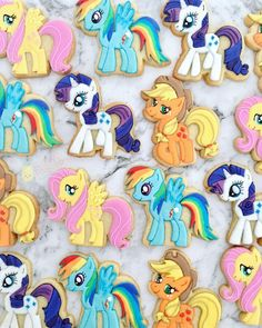 My Little Pony cookies, MLP cookies, Pony cookies, My Little Pony party