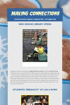 Rockwood School Library Newsletters with AASL standard examples. Really cool school library ideas found here! Elementary School Library, Elementary Schools, Making Connections, Too Cool For School, Library Ideas, Student, Elementary Library, Primary School