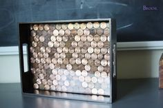 Cool DIYs Made With Money, Dollar Bills and Coins - DIY Penny Tray - Walls, Floors, DIY Penny Table. Art With Pennies, Walls and Furniture Make With Money, Dollar Bills and Coins. Cool, Creative Tutorials, Home Decor and DIY Projects Made With Cash http://diyjoy.com/diy-ideas-pennies-money