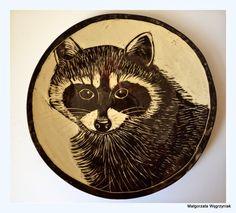 #polandhandmade #MWCeramics #ceramics #ceramika #pottery #breakfast  #sgraffito #racoon  #talerzyk #plates