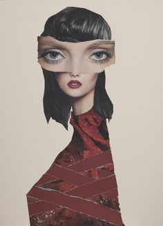 "Saatchi Online Artist: Lee Mcconville; Paper, 2012, Assemblage / Collage ""Wrapped"""