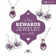 Pretty in purple! Check out the new jewelry that was added to YOUR rewards store! #jicrewards #newjewelry #purple #lovejic