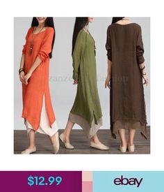 8cd60d46fbf  12.99 - Zanzea Women s Casual Loose Shirt Dress Plus Size Summer Shirt  Long Maxi Dress  ebay  Fashion