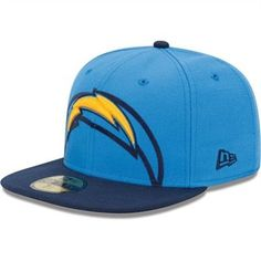 d09ef3959 New Era San Diego Chargers Over Flock 59FIFTY Structured Fitted Hat