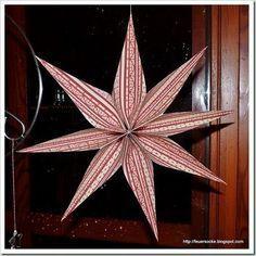 Diese Sterne machen süchtig. Sie sind einfach und schnell zu basteln. Ein Quadrat (z.B. 30 cm x 30 cm) wird zur Ziehharmonika gefaltet...