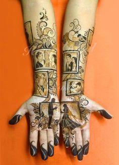 Love Story Henna - The Trending New Bridal Mehndi design Idea you'll LOVE! Engagement Mehndi Designs, Latest Bridal Mehndi Designs, Modern Mehndi Designs, Dulhan Mehndi Designs, Mehndi Design Pictures, Wedding Mehndi Designs, Mehndi Designs For Fingers, Mehndi Images, Latest Mehndi