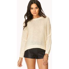 FOREVER 21 Cozy Open-Knit Sweater