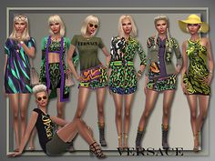 Sims 4 CC's - The Best: Versace Spring 2016 by AllAboutStyle