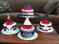 Ahoy its a Boy Nautical Sailing Baby