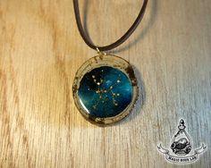 constellation necklace (Sagittarius), Star Necklace, Zodiac Jewelry, Space…