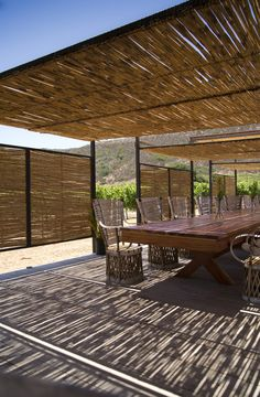 The Ambitious Project that Brings Together 44 Mexican and International Architects,Cortesía de Cuatro Cuatros Concept Models Architecture, Architecture Art Design, Natural Architecture, Bamboo Architecture, Bamboo Structure, Tropical Home Decor, Bamboo Design, Outdoor Cafe, Farm Cottage