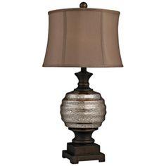 Grants Pass Antique Mercury Glass Table Lamp
