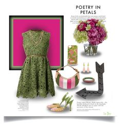 """""""Floral Bouquet Inspiration: Green and Pink"""" by dop37 ❤ liked on Polyvore featuring Valentino, Diane James, Lilly Pulitzer, Indulgems and Prada"""