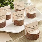 Rustic Real-Wood Place Card Holders