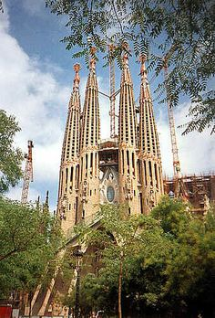 Holy Family Cathedral (1882, Barcelona, Spain) - Catalan Modernism Style.